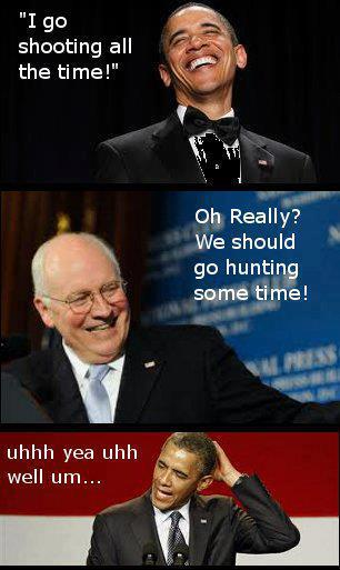 obama cheney shooting lol