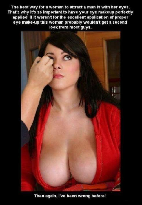 eye makeup boobs