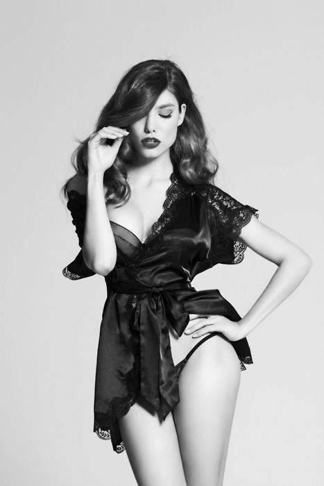 black lingerie gal