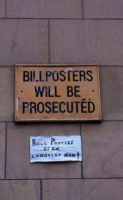 bill posters lol