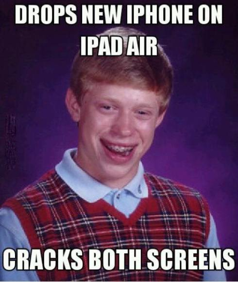 cracked screens lol
