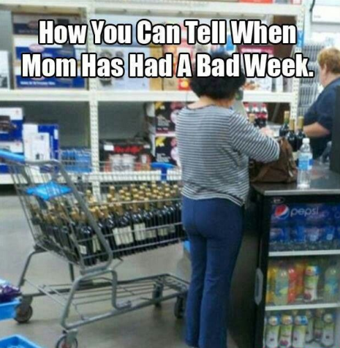 mom buying wine lol