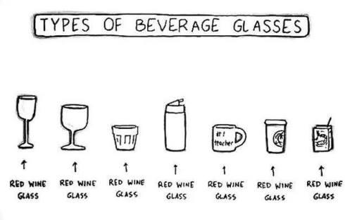 red wine glasses lol