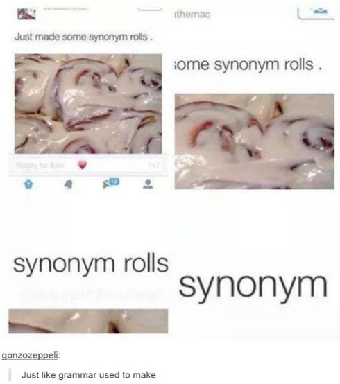 synonym rolls lol