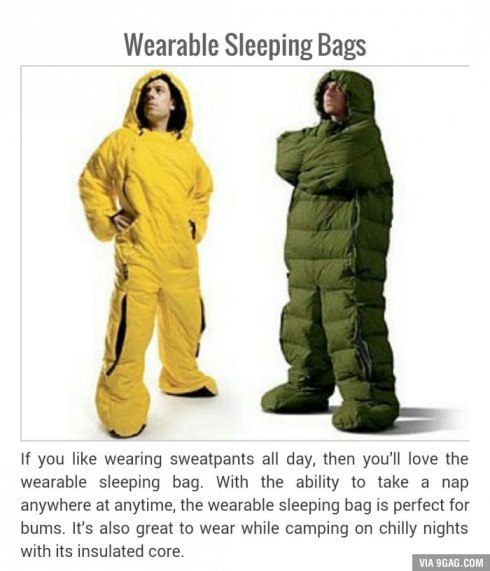 wearable sleeping bags lol