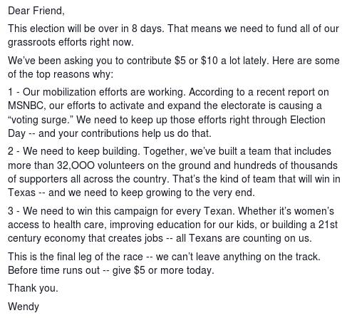 davis fundraising letter