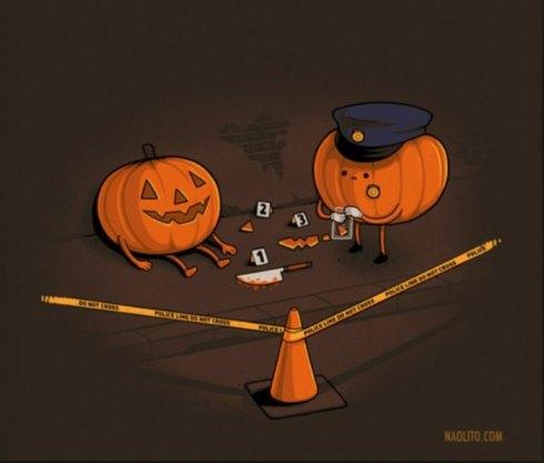 pumpkin crime scene lol