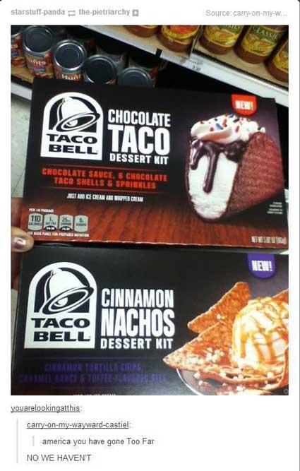 taco dessert lol