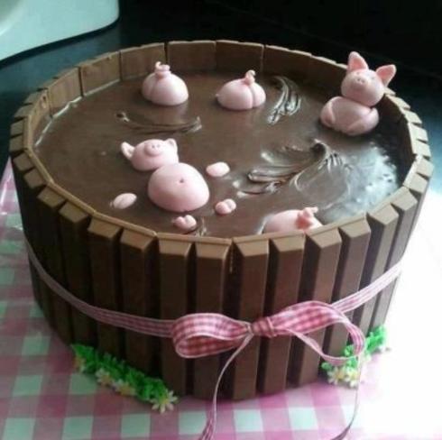 choc pudding piggies