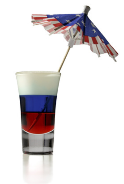 layered patriotic shot