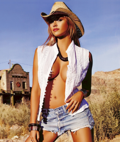 sexy cowgirl unbuttoned shirt