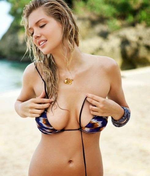kate upton bikini top undone