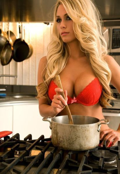 sexy gal cooking