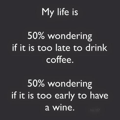 wine or coffee